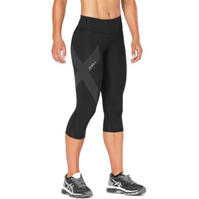 2XU Mid-Rise Compression 3/4 Tights Women Black/Dotted Reflective Logo